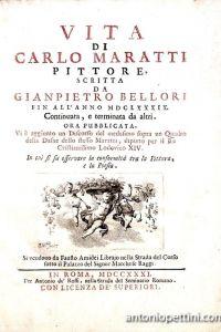 Vita di Carlo Maratti pittore, scritta da Gianpietro Bellori fin all'anno MDCLXXXIX